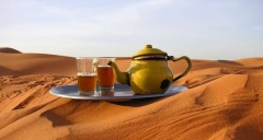The traditionlly Moroccan tea
